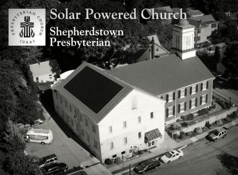 Solar 1 BW church