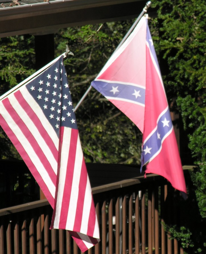 Confederate flag on house