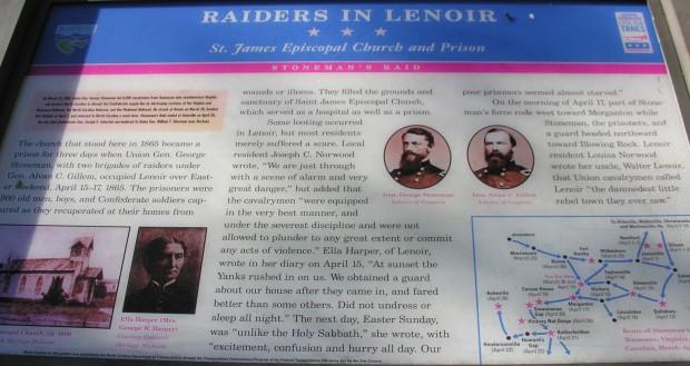 Confederate raiders in Lenoir