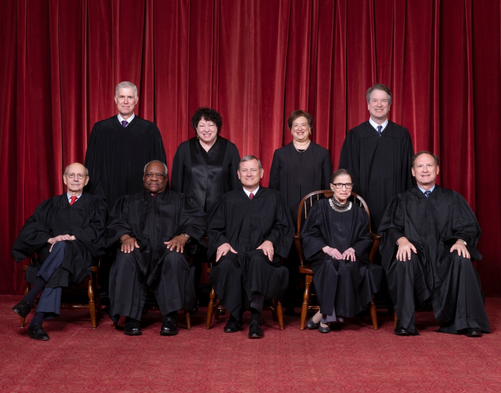 This image has an empty alt attribute; its file name is scotus-justices.jpg